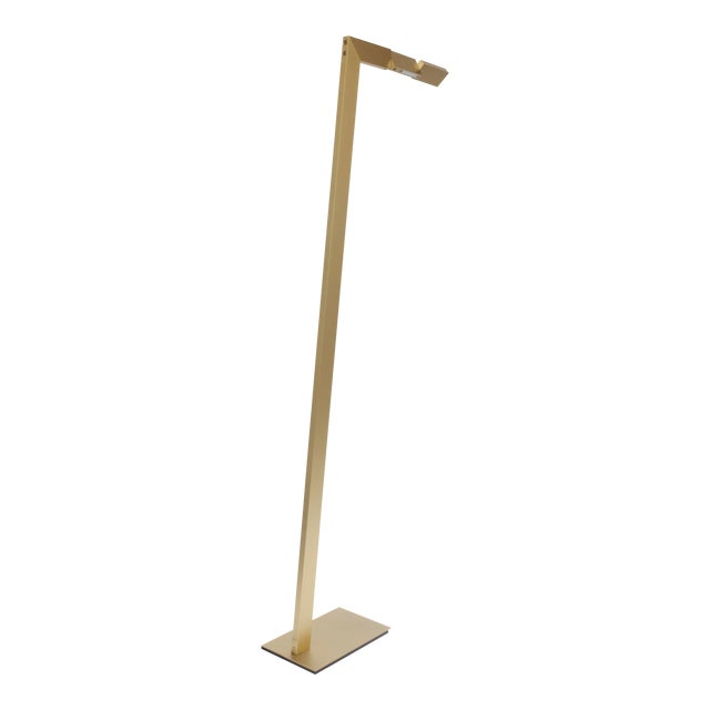 Modern Contemporary 001 Floor Lamp in Brass by Orphan Work For Sale