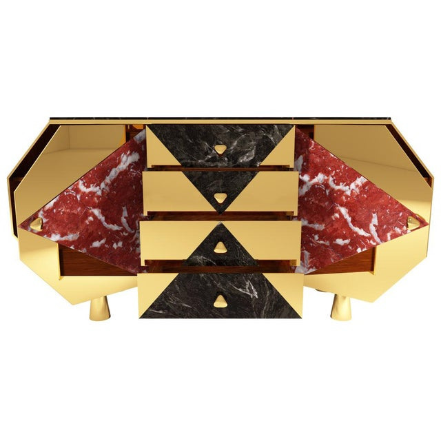 Metal Jester Sideboard by Artist Troy Smith - Contemporary Design - Limited Edition - Bespoke Furniture For Sale - Image 7 of 10