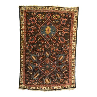 Early 19th Century Antique Caucasian Kuba Rug-3′5″ × 4′9″ For Sale