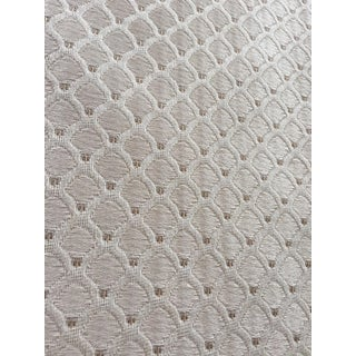 Antique White Patterned Fabric Remnant