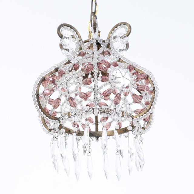 1950s 1950s Italian Vintage Beaded Chandelier Pendant For Sale - Image 5 of 5
