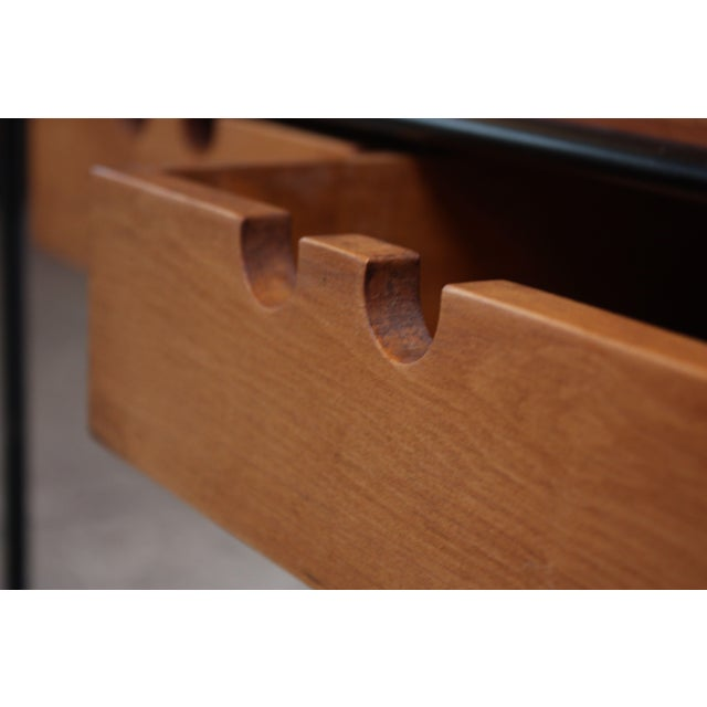 Paul McCobb for Winchendon Maple and Iron Console / Media Table For Sale - Image 11 of 13