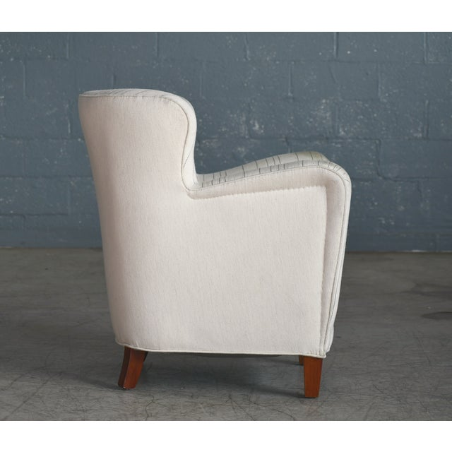 1940s Fritz Hansen Attributed Model 1669 Style Easy Chair, Denmark, 1940s For Sale - Image 5 of 9