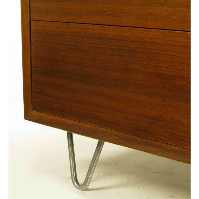 George Nelson Mahogany Five-Drawer Tall Chest For Sale - Image 9 of 10