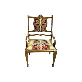 Antique Swedish Mahogany Armchair For Sale