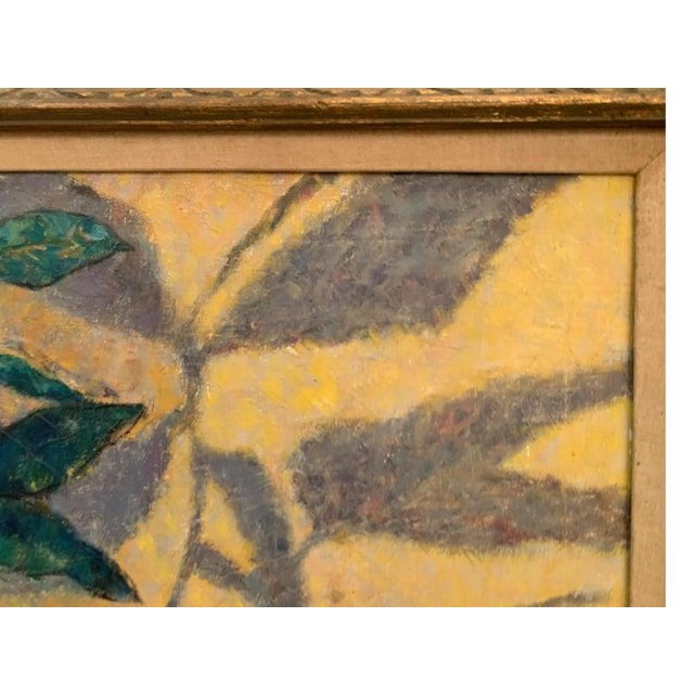 Mid-Century Modernist Still Life Oil on Canvas Painting For Sale - Image 10 of 10