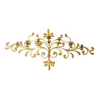 Antique Italian Ornate Gold Candleabra