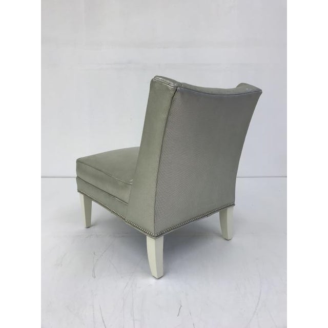 Transitional Century Furniture Foxx Armless Chair For Sale - Image 3 of 4