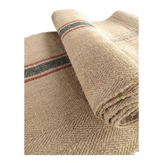 Antique Hemp Table Runner Heavy Fabric - 2.4 Yards For Sale