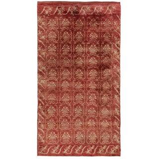 Faded Watermelon Vintage Turkish Carpet Fleur De Lis Deisgn | 4 X 7'5