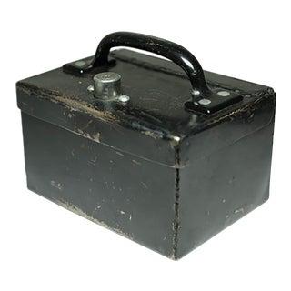Vintage Steel Lockbox C. 1940s