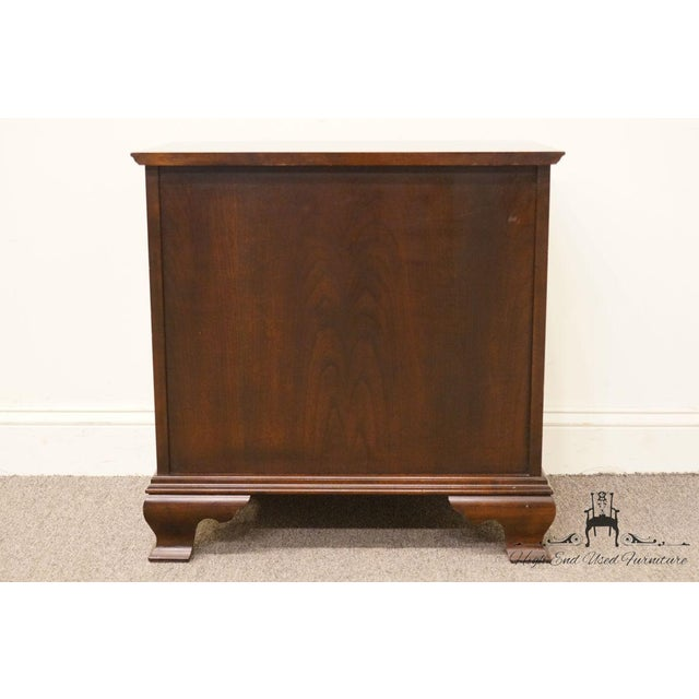 Chippendale Style 4 Drawer Solid Mahogany Accent Chest For Sale - Image 10 of 13