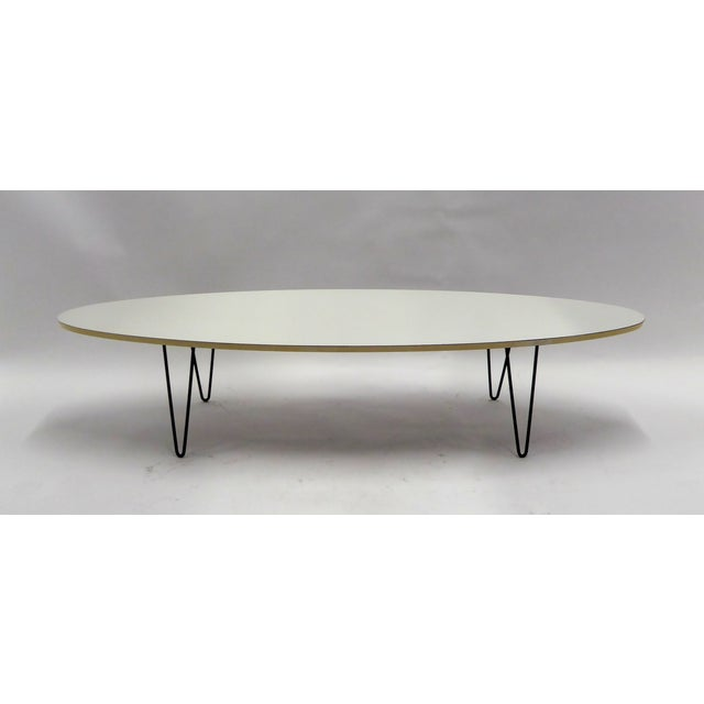 Mid-Century Modern Long Surfboard Cocktail Coffee Table C. 1950s For Sale - Image 12 of 13