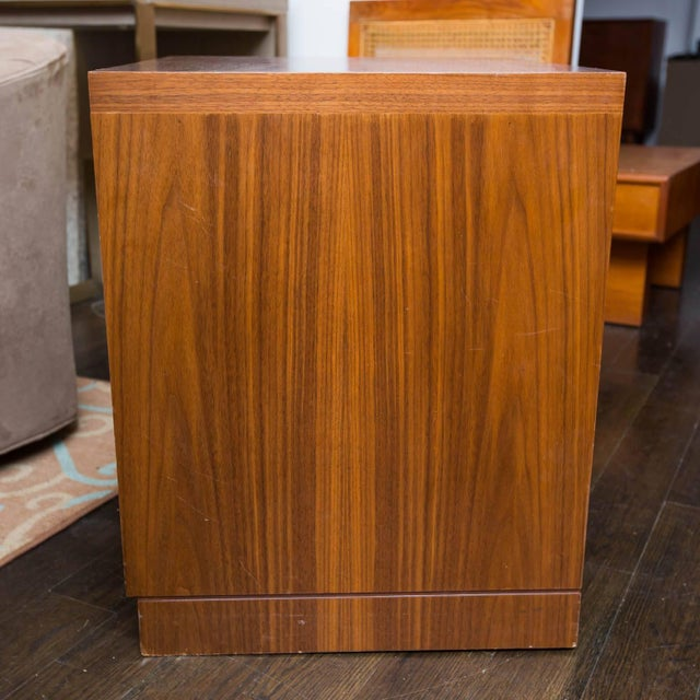 Modern Walnut and Cerused Oak Two-Drawer Cabinet For Sale - Image 3 of 7