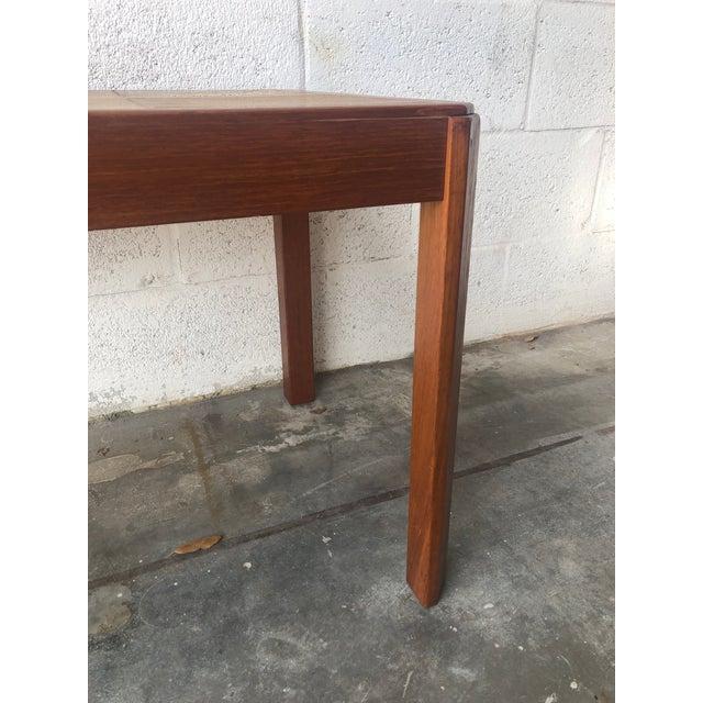 Brown Vintage Mid Century Danish Modern Tile Top Side Table by Uldum Moblerfabrik Denmark For Sale - Image 8 of 13