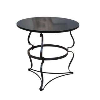 Raymond Subes Steel Side Table With Slate Top For Sale