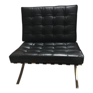 Mid Century Modern- Mies Van Der Rohe Inspired Barcelona Chair For Sale