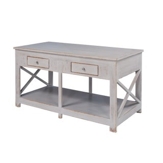 Benji Distressed Gray Kitchen Island For Sale