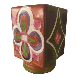 Hand-Painted Italian Planter For Sale