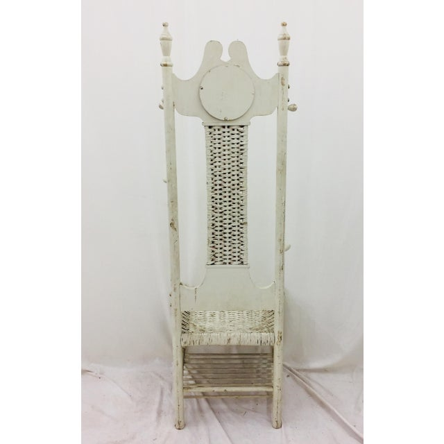 Antique Victorian Coat Rack - Hall Chair For Sale - Image 9 of 11