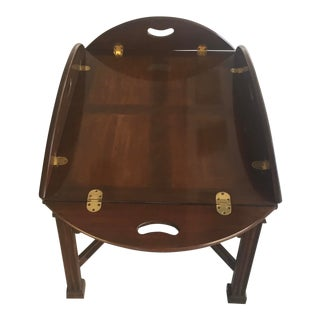 1990s Traditional Butlers Tray Table For Sale