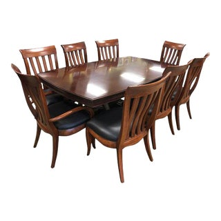 Bernhardt Paris Cherry Mahogany Dining Set - 7 Pieces For Sale