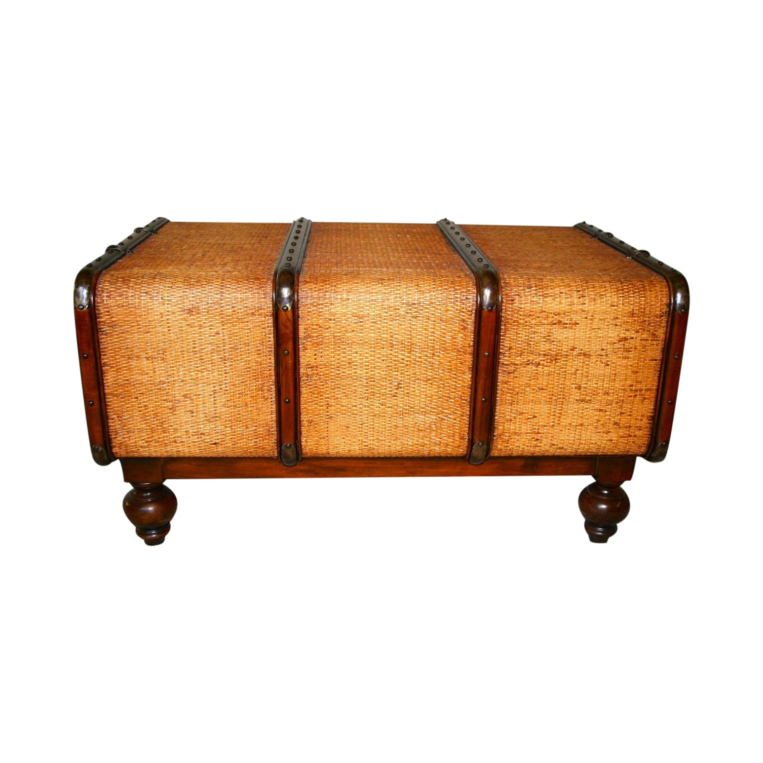 Cane Style Trunk Storage Coffee Table Chairish