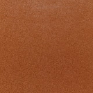 Schumacher Canyon Leather Wallpaper in Saddle For Sale
