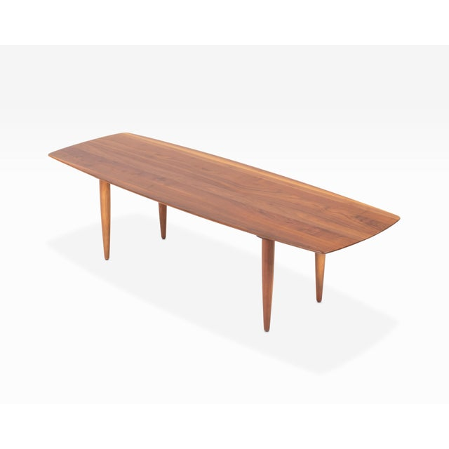 """Mid-Century Modern Vintage Ace-Hi """"Prelude"""" Mid Century Solid Walnut Coffee Table For Sale - Image 3 of 5"""