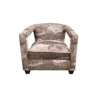 Bernhardt Alana Velvet Lounge Chair For Sale