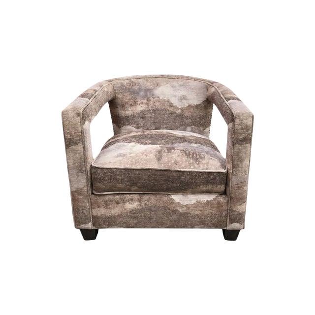 Bernhardt Alana Velvet Lounge Chair For Sale