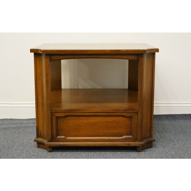 """Drexel Heritage Triune Collection Mahogany 27"""" Square Accent End Table For Sale - Image 11 of 13"""