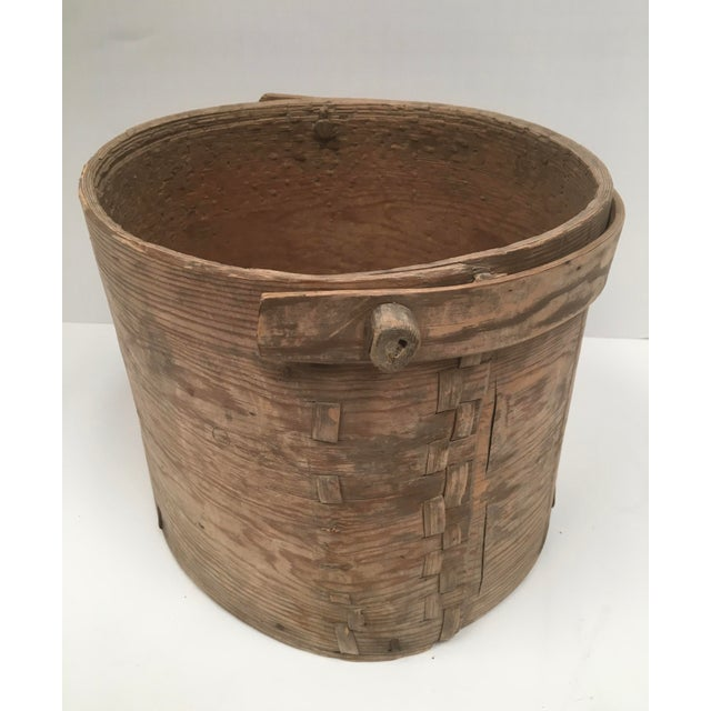 Wood Antique Wood Butter & Cheese Basket For Sale - Image 7 of 10