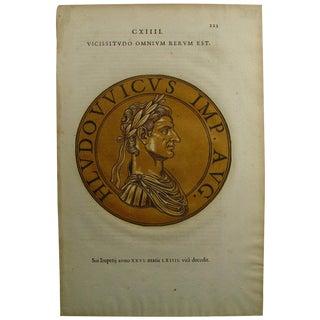 1645 Roman Emperor Block Print For Sale