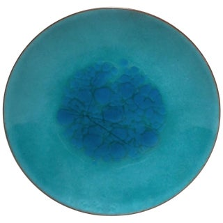 Mid-Century Modern Blue Enamel Dish or Vide-Poche, Circa 1960s For Sale
