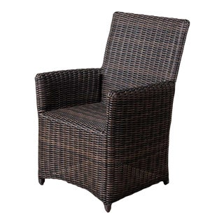 New Parsons Outdoor Arm Chair in Cocoa Finish For Sale