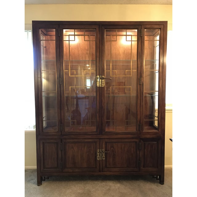 Brass Century Furniture Company China Cabinet For Sale - Image 7 of 7