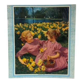 """Daffodil Time"" Color Americana Print on Paper Circa 1940 For Sale"