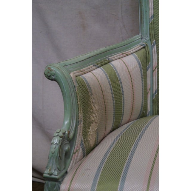 1940s Vintage Louis XV Style Fireside Bergere Host Chairs - a Pair - Image 8 of 10