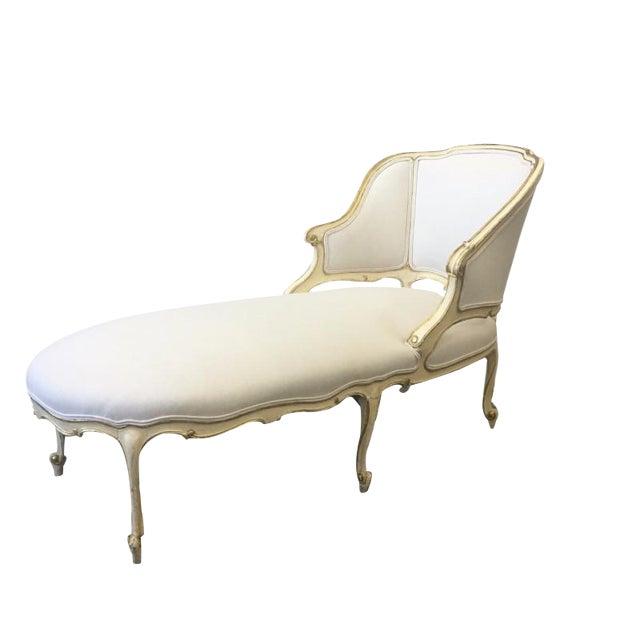 Italian Parcel Gilt Chaise Lounge Recaimier Fainting Sofa - Image 1 of 8