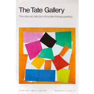 1970s Original Matisse Exhibition Poster, National Collection, Tate Gallery For Sale