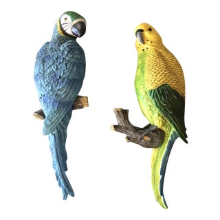 Tropical Bird Wall Hangings - a Pair