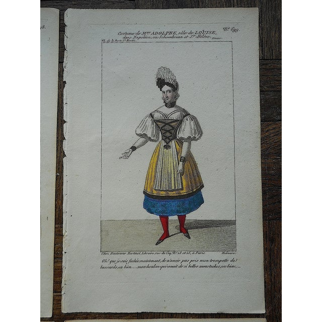 Four Antique French Theater/Costume Prints - Image 4 of 6