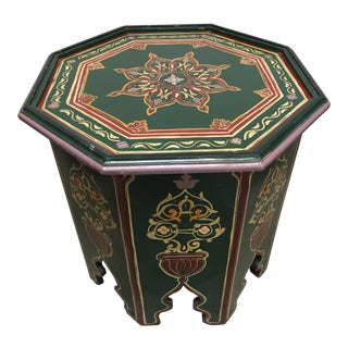 Moroccan Hand Painted Table With Moorish Designs For Sale