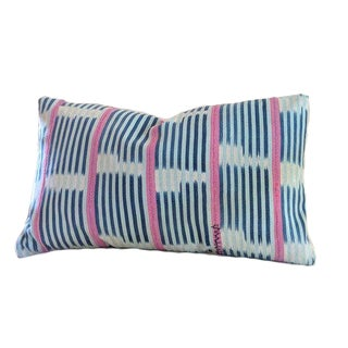 African Baule Ikat Pillow | Gibson 12x20 For Sale