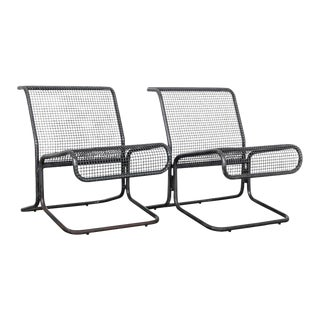 1970s Midcentury Industrial Waiting Chairs - Set of Two For Sale