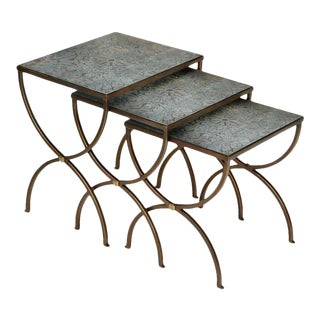 Scarborough House Bronze Wrought Nesting Tables - Set of 3 For Sale