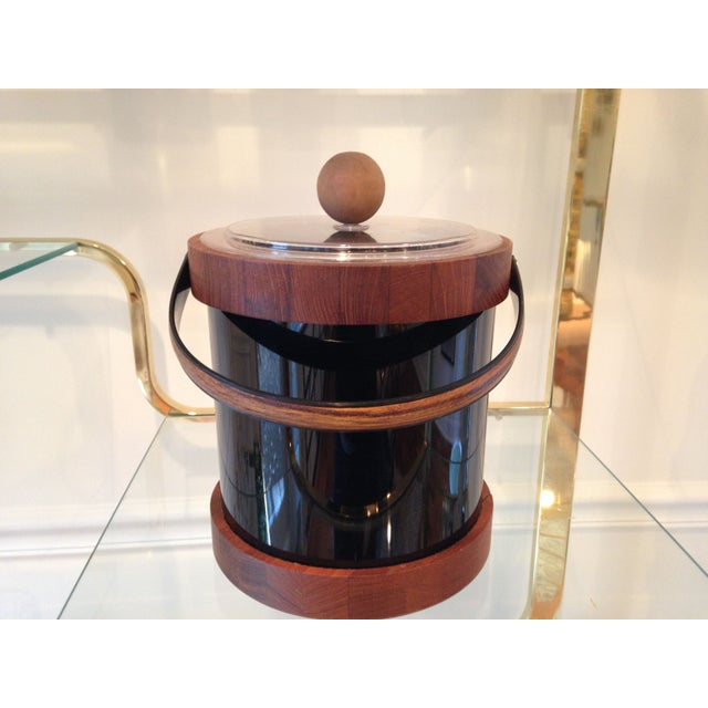 Authentic Ernest Sohn Teak Ice Bucket - Image 5 of 6