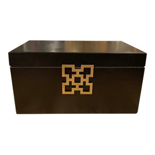 Black Wooden Jewelry Box For Sale