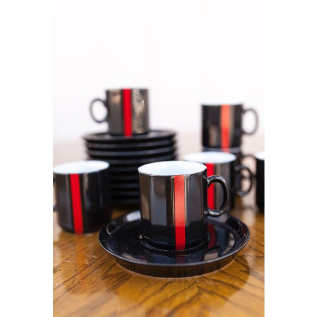 Vintage Espresso Cups and Saucers - Set Of 10 For Sale - Image 3 of 4